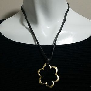 Fossil Black & Gold Necklace